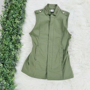 Cabi Army Green Military ZIP Up Vest